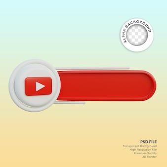 Лейбл в социальных сетях 3d модель youtube