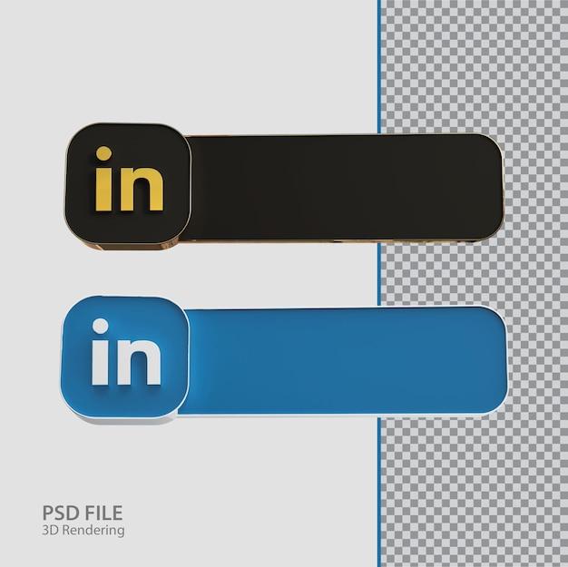 3d 소셜 미디어 linkedin 레이블 크리에이티브