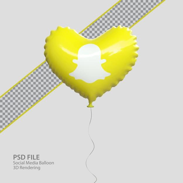 3d snapchat в социальных сетях с воздушным шаром
