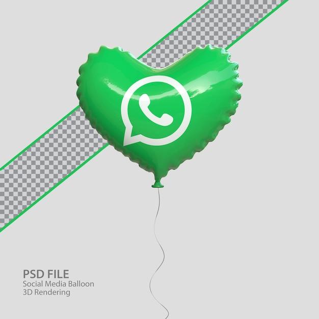 3d социальные сети whatsapp в стиле воздушного шара