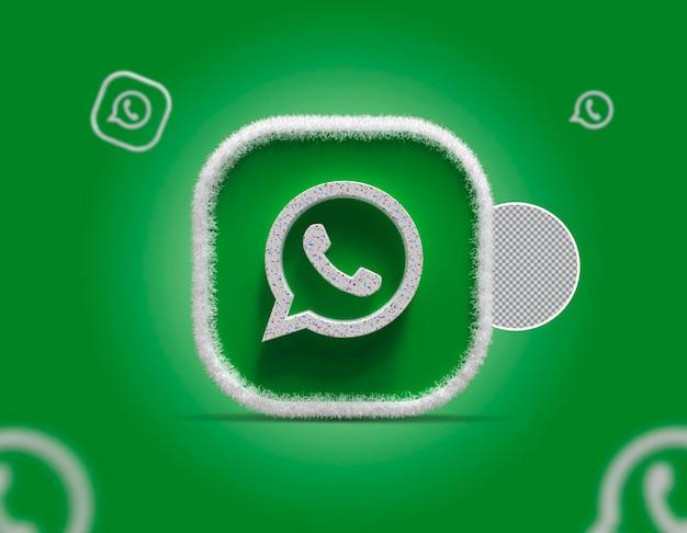 3d 소셜 미디어 whatsapp 아이콘
