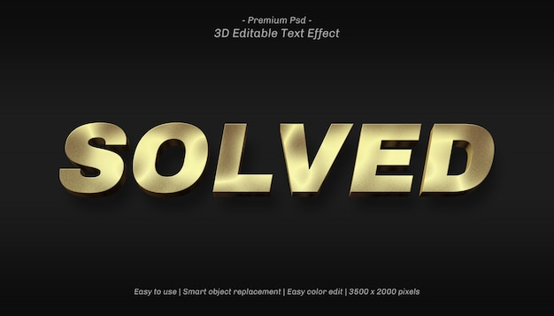 3d solved editable text effect