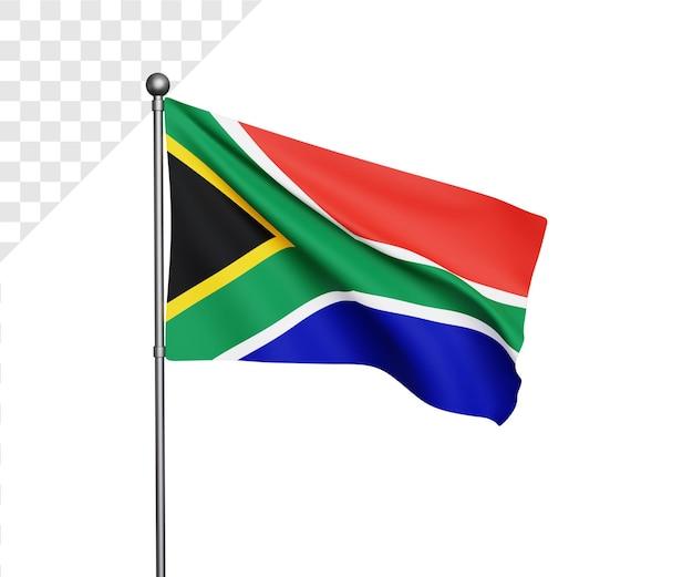 3d иллюстрация флаг южной африки