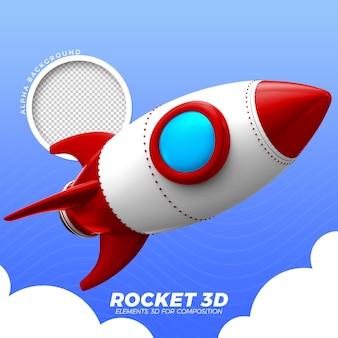 3d 우주 로켓