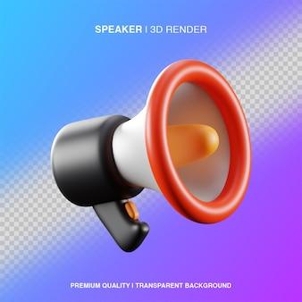3d speaker illustration isolated