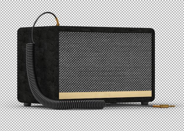 3d speaker isolated.