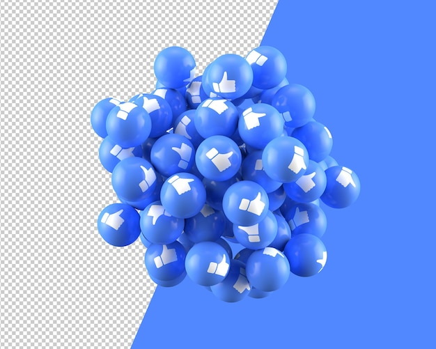 3d spheres of like icon