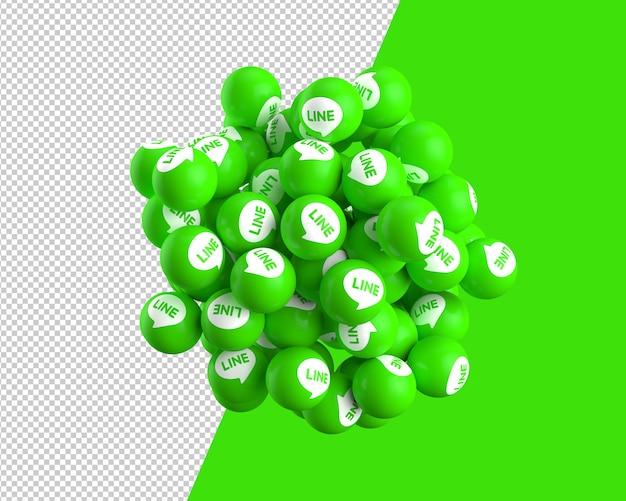 線アイコンの3 d球