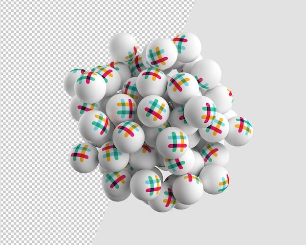 たるみアイコンの3 d球