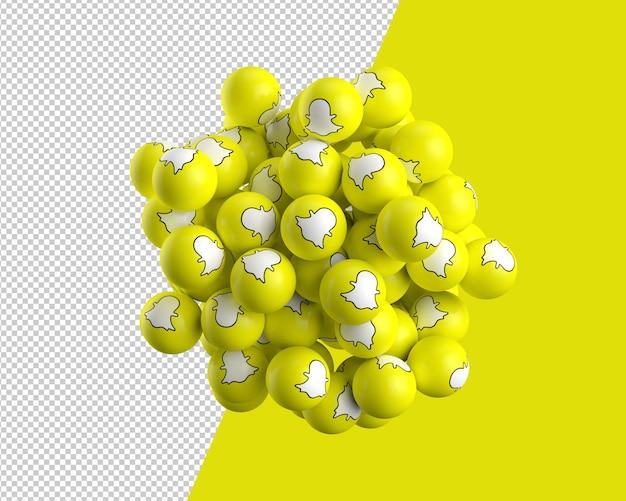 Snapchatアイコンの3 d球
