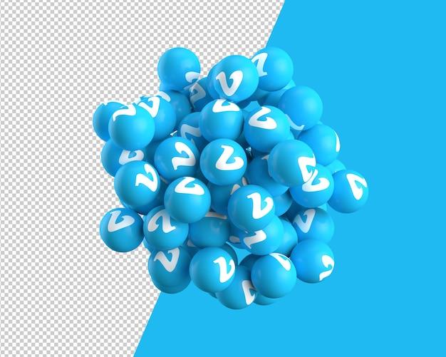 Vimeoアイコンの3 d球