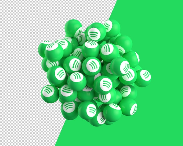 3d spheres of spotify icon