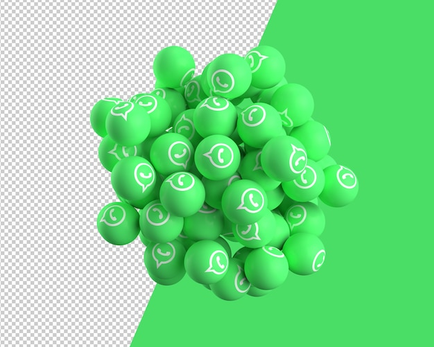 3d spheres of whatsapp icon