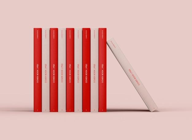 3d макет стопки книг в твердом переплете