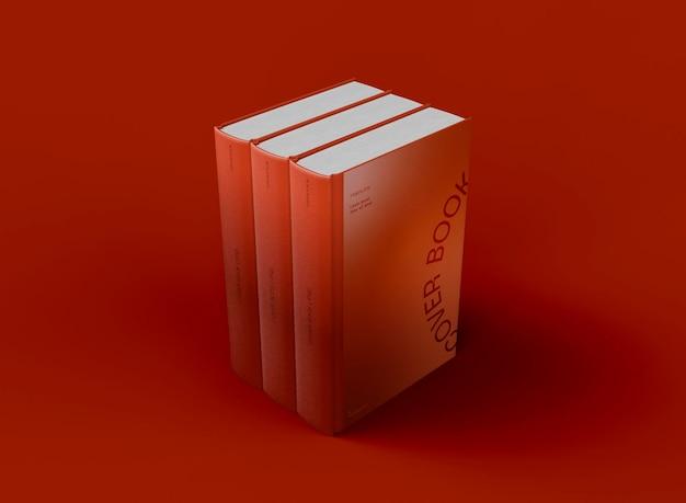 Шаблон 3d стопку книг в твердом переплете