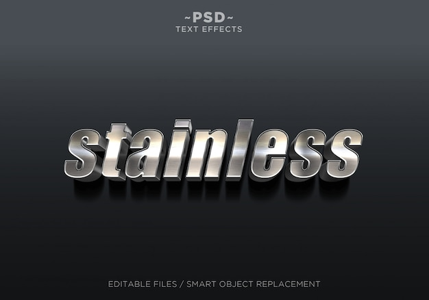 3d stainless effect editable text