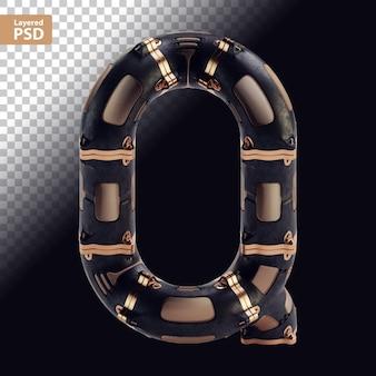 3d стимпанк черная буква с бронзовыми частями