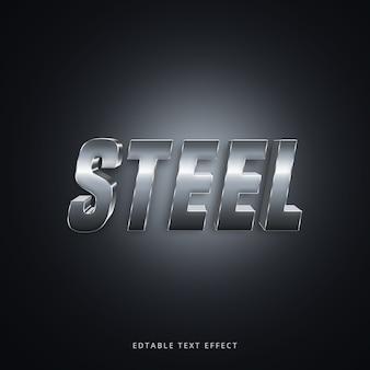 3d стальной текстовый эффект