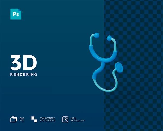 3d визуализация стетоскопа изолированные