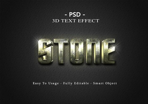 Шаблон эффекта стиля текста 3d камень