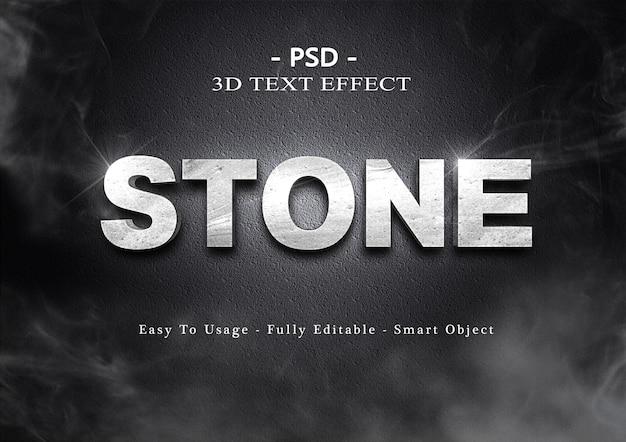 Эффект стиля текста 3d камень