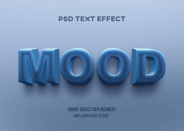 3d сильный жирный синий текстовый эффект