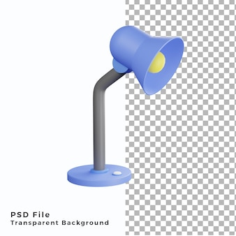 Иллюстрация значка лампы для учебы 3d высококачественные psd файлы
