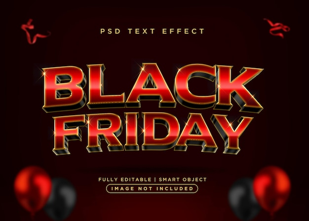 3d style black friday text effect