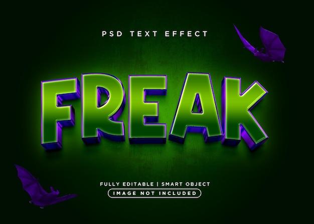 3d style freak text effect