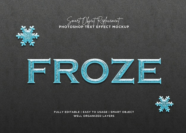 3d style froze text effect