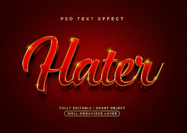 3d style hater text effect