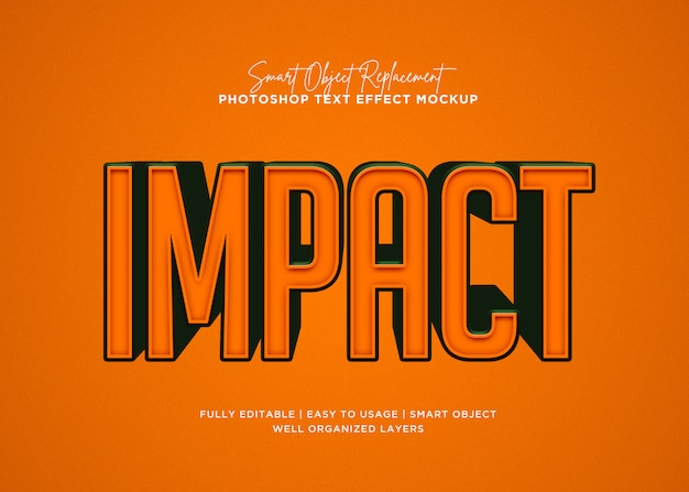 3d style impact text effect