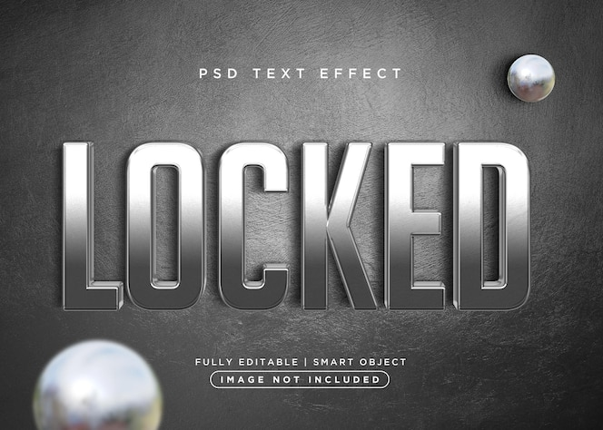 3d style locked text effect