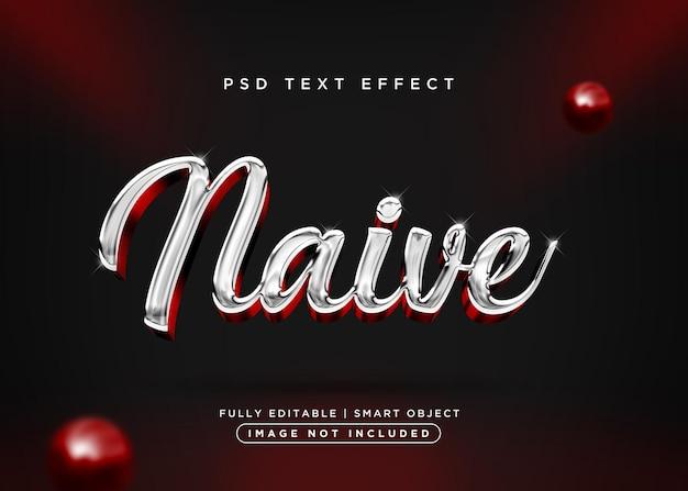 3d стиль наивный текстовый эффект
