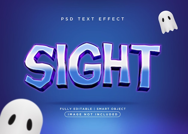 3d style sight text effect