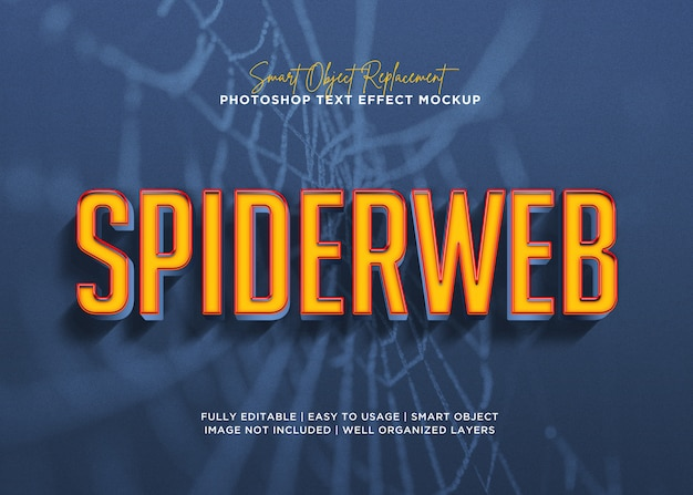 3d style spiderweb text effect