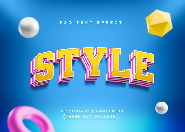 3d style style text effect