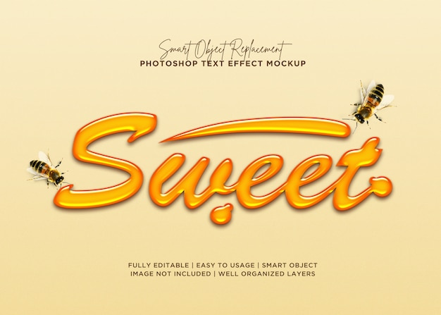 3d style sweet text effect