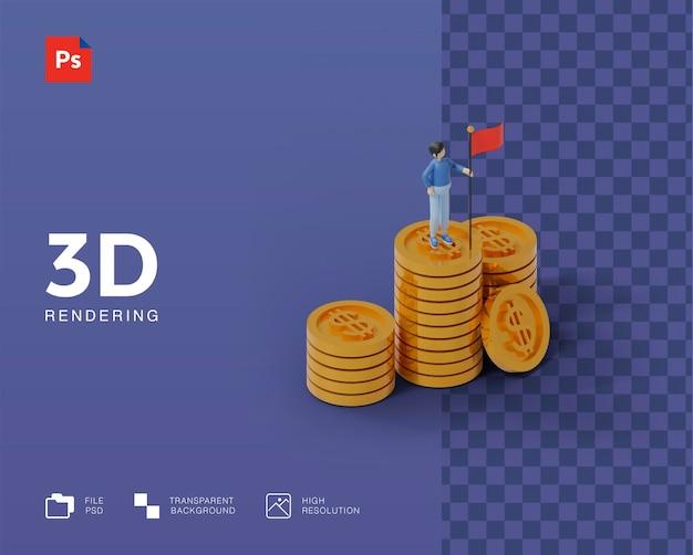 3d успешная иллюстрация