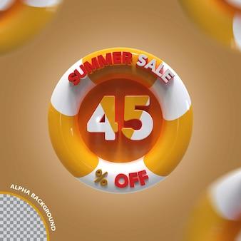3d летняя распродажа 45 процентов предложение креатив