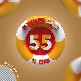 3d летняя распродажа 55 процентов предложение креатив
