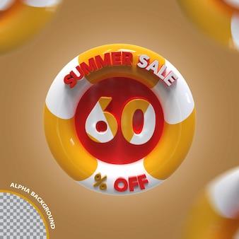 3d летняя распродажа 60 процентов предложение креатив