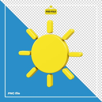 Дизайн иконок 3d солнце