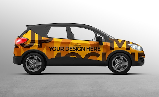 3d suv car mockup for branding and advertising presentations