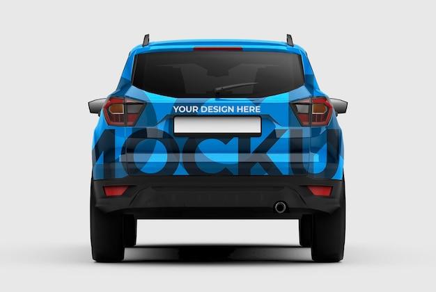 ブランディングおよび広告プレゼンテーション用の 3d suv 車のモックアップ