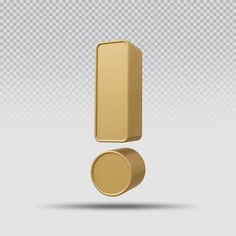 3d символ роскошный золотой