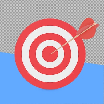 3d target and arrow rendering isolated