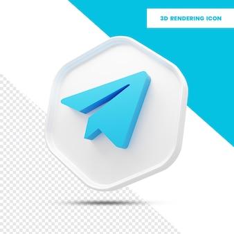 Значок визуализации 3d telegram