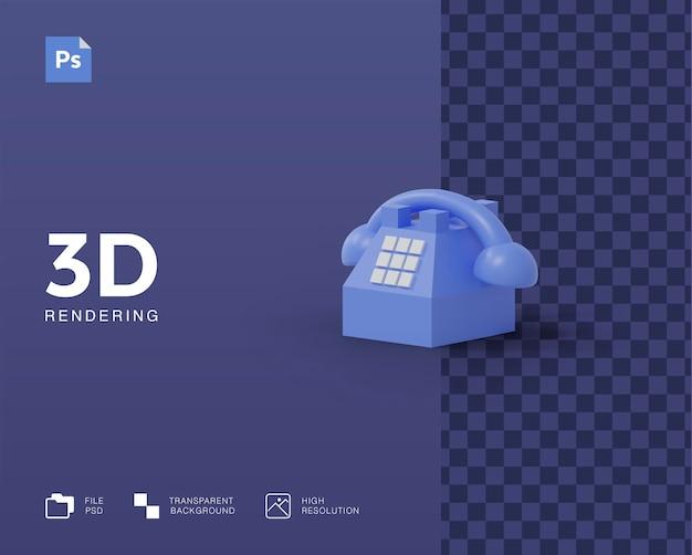 3d телефонная иллюстрация