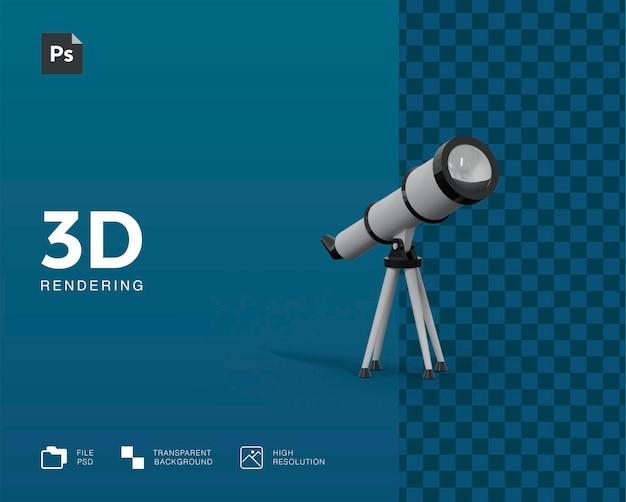 Трехмерная иллюстрация телескопа